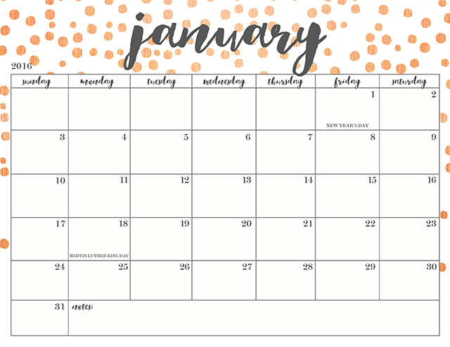 January Fitness 2017 Free Calendars To Print