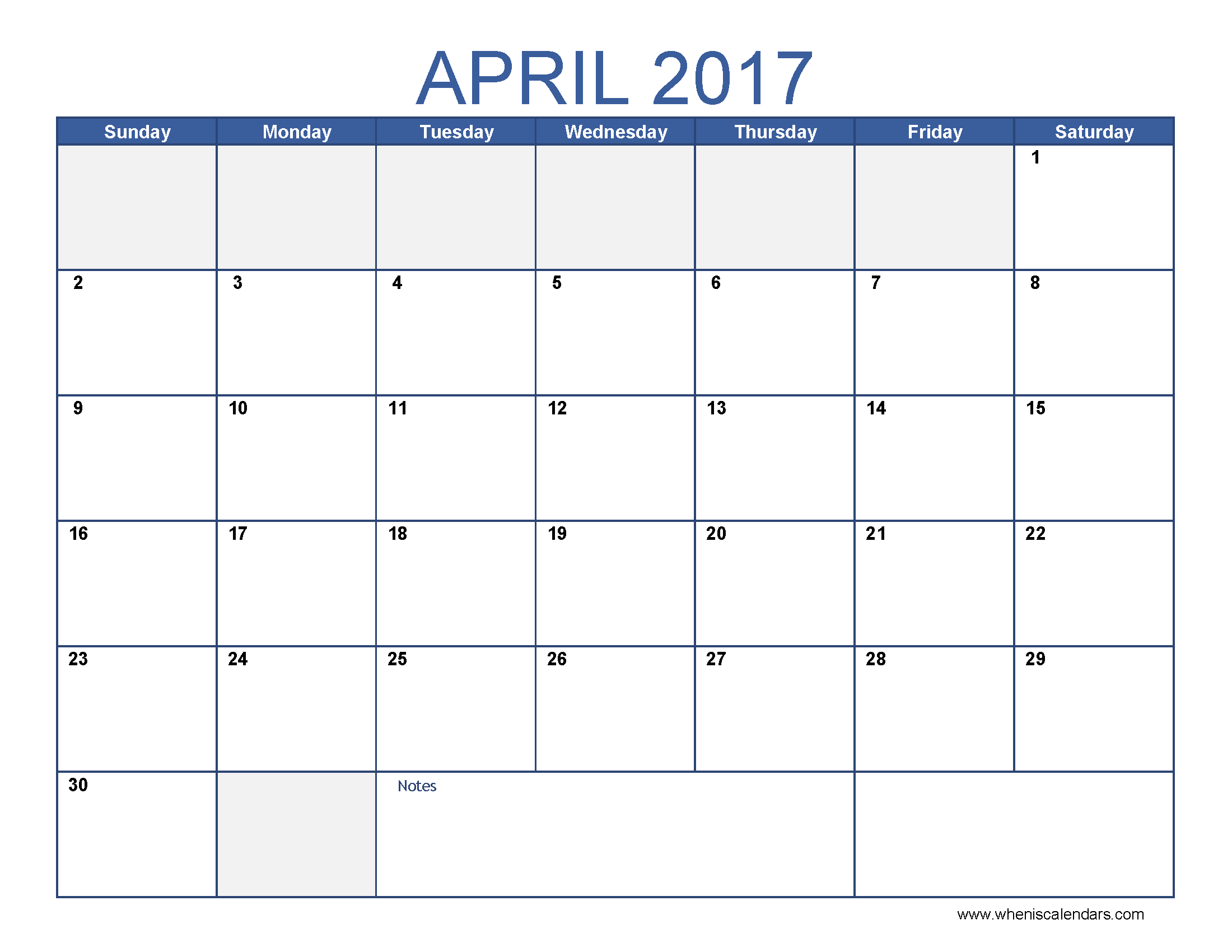 April Calendar Blank Template : April calendar templates for